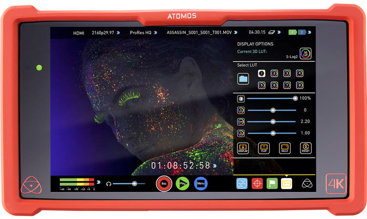 Atomos Assassin с экраном меню LUT.jpg